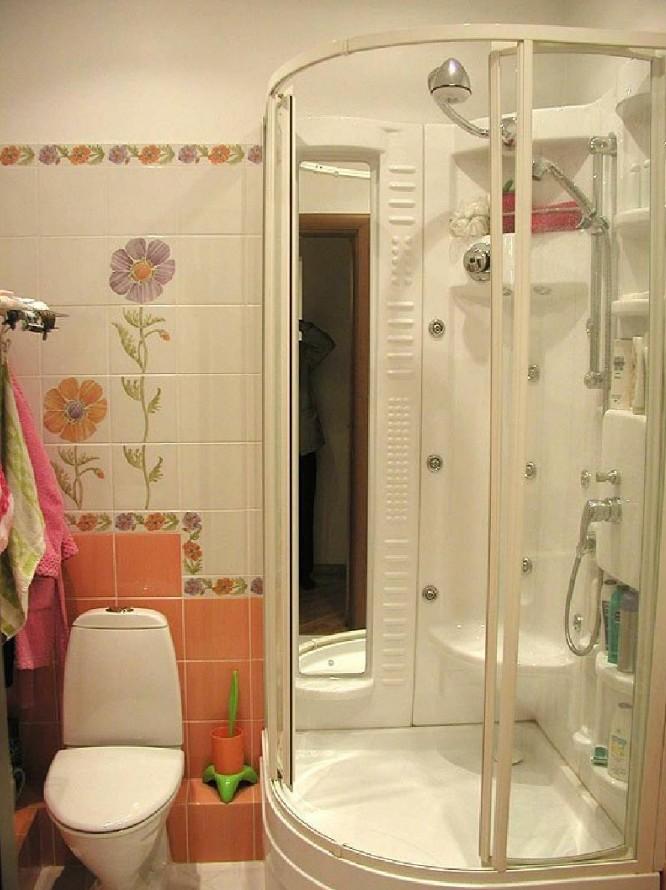 Ремонт ванны туалетом с душевой кабиной
