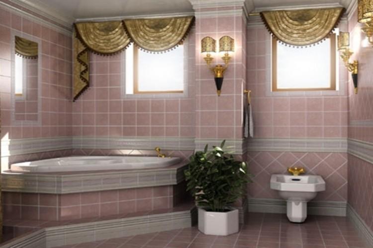 шторы в ванной комнате на окно фото